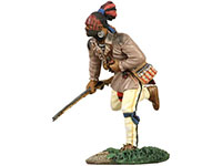 Eastern Woodland Indian Running with Musket