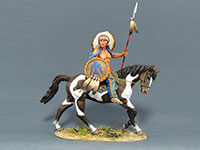 Sioux Warrior on Horse