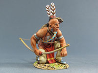 Sioux Warrior kneeling with Bow