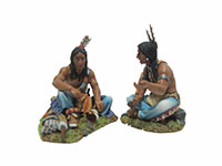 Two Sitting Sioux Talking #1