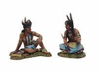 Two Sitting Sioux Talking #2