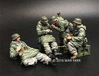 Four Soldiers Smoking